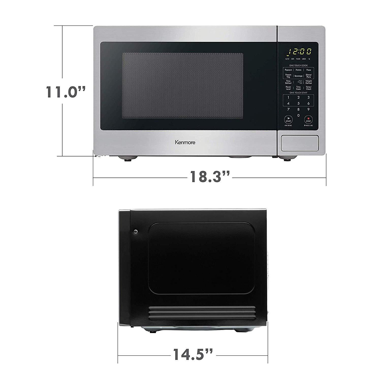 Kenmore Stainless Steel 70913 Countertop Microwave 0 9 Cu