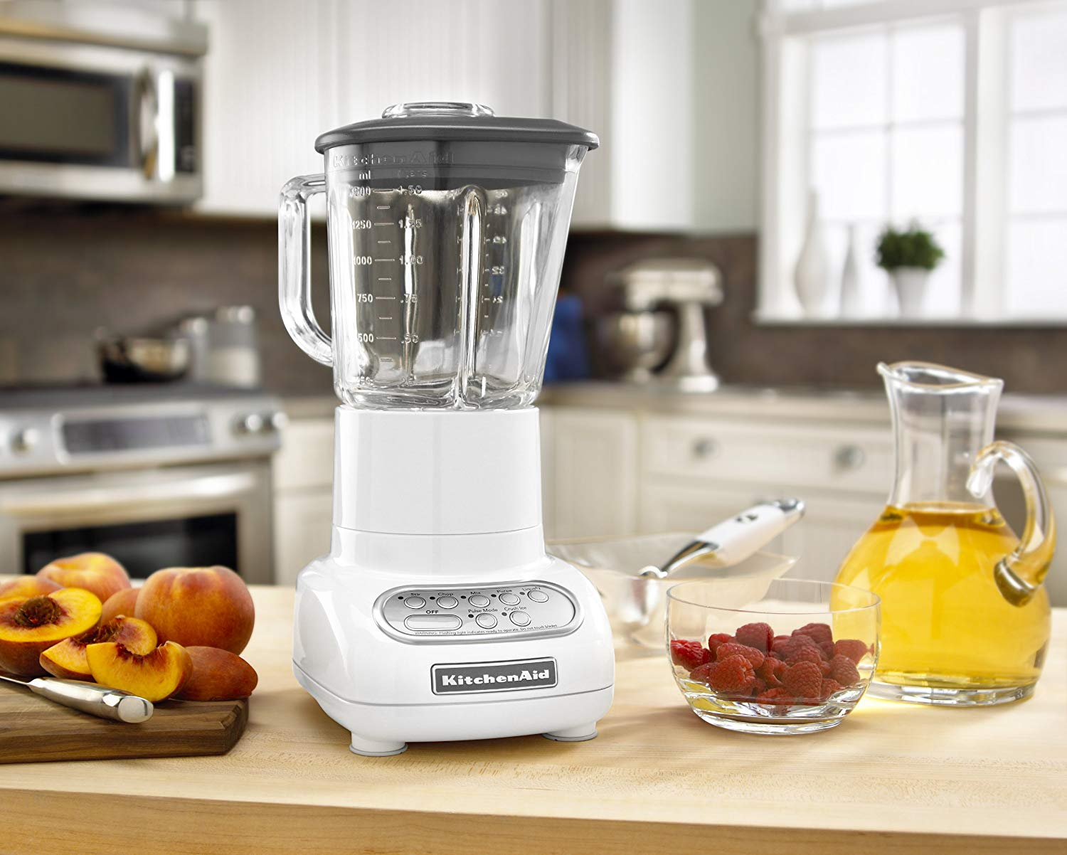 Kitchenaid Ksb565wh 5 Speed Blender With 48 Ounce Glass