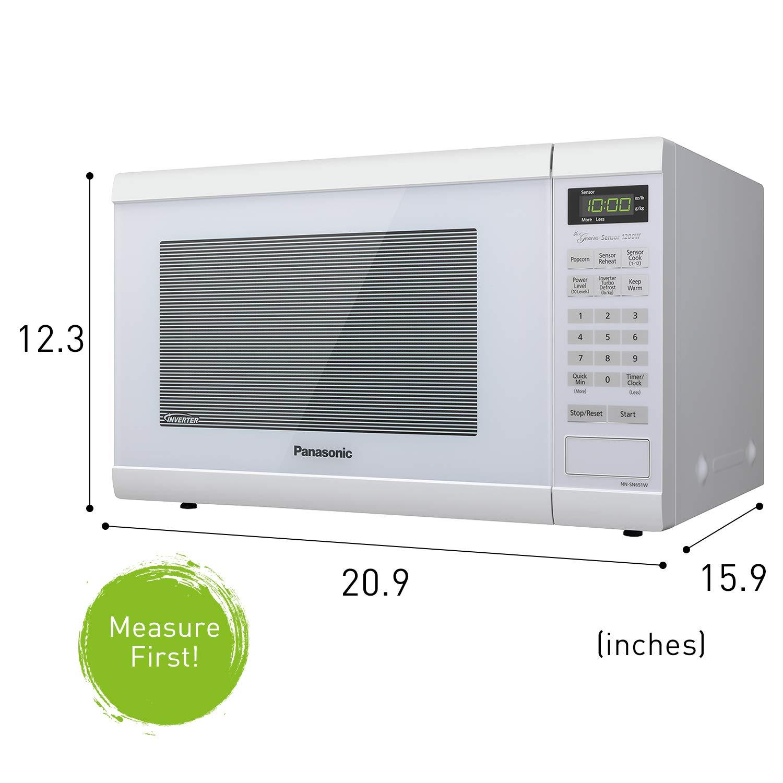 Panasonic Nn Sn651waz 1200w Countertop Microwave Oven With